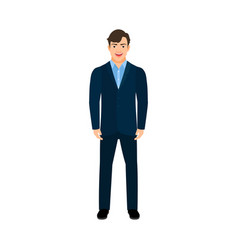 young smiling manager man vector image