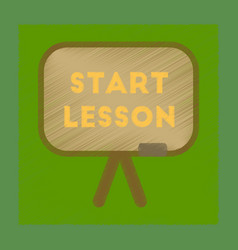 Flat shading style icon board start lesson vector