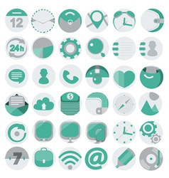 Business flat icons set 1 vector image