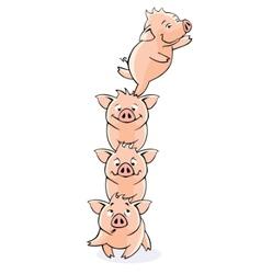 Funny piglets vector