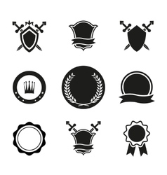 Shields Crowns and Emblems vector image