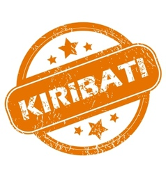 Kiribati grunge icon vector