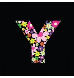 Floral letter vector