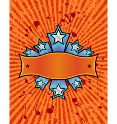 Star banner orange vector