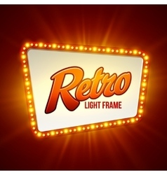 Shining retro light banner vector