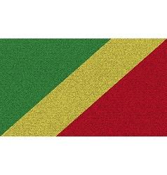 Flags congo republic on denim texture vector