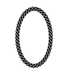 Black chain oval frame vector