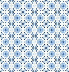 Traditional ornate portuguese tiles azulejos vector