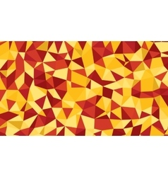Abstract red orange lowploly of many vector image vector image