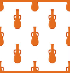 Ancient pottery seamless pattern vase amphora vector