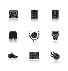 Basketball icons vector