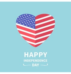 Big flag heart independence day 4 july vector