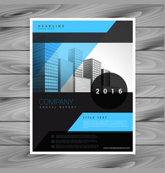 Blue and black business brochure flyer template vector