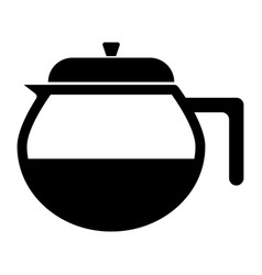 capacity for hot drinks black icon vector image vector image