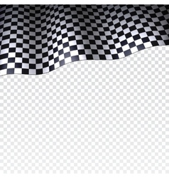 Checkered flag on transparent background vector image vector image