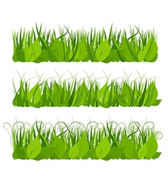 Collection grass vector image vector image