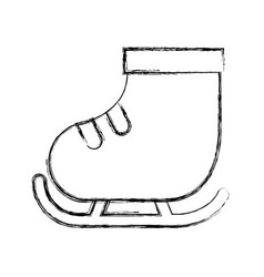 Cute sketch draw ice skate vector