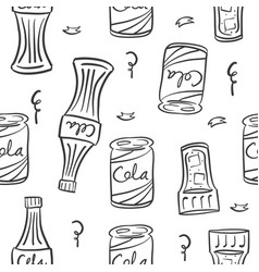 Doodle of drink bottle hand draw vector