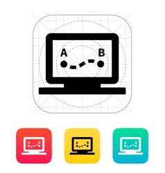 Drone route icon vector