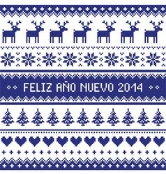 Feliz ano nuevo 2014 - spanish happy year pattern vector