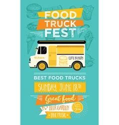 Food truck party invitation Food menu template vector image vector image