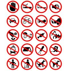 Forbidding pictograms2 vector