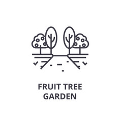 fruit tree garden line icon outline sign linear vector image