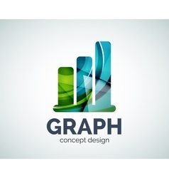 Graph logo template vector image vector image