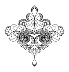 Hand drawn ornate flower pattern in vector