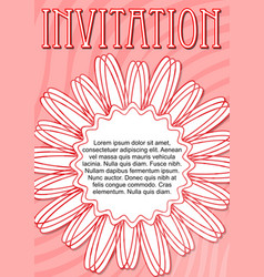 Invitation template in pink and red design with vector