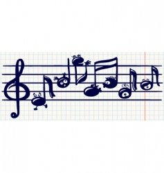 music stave vector image