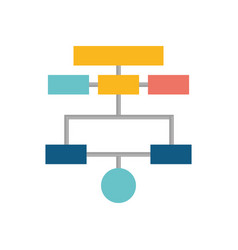 Organization chart isolated vector