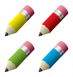 pencil collection vector image vector image