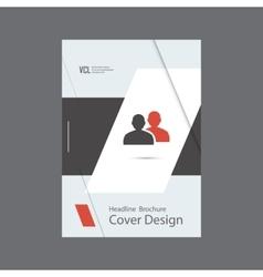 People icon brochure vector