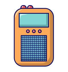 Portable radio icon cartoon style vector