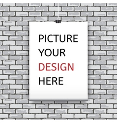 Poster template for your design vector image vector image