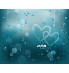 Rainy window vector
