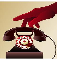 Retro telephon vector