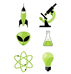 scientific icon vector image vector image
