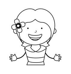 Spanish little girl character vector
