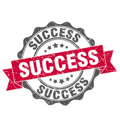 Success stamp sign seal vector