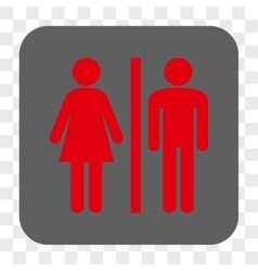 Wc persons rounded square button vector