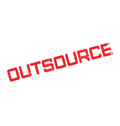 Outsource rubber stamp vector