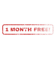 1 month free exclamation rubber stamp vector image