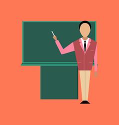 Flat icon on stylish background male teacher vector