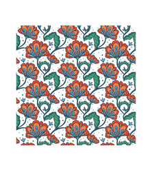 Hand drawn batik flower pattern vector