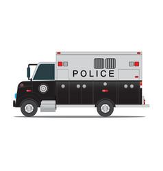 Police car for transportation of criminals in vector