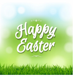 happy easter card with bokeh vector image