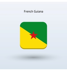 French guiana flag icon vector