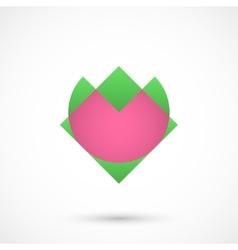 Abstract heart flower vector